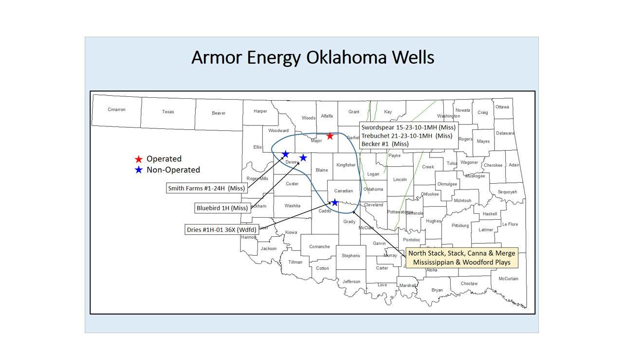 Armor Energy Oklahoma Wells